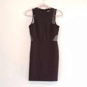NWOT Express Size 4 Mesh Cutouts Black Dress